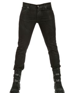 Karl | 165cm Waxed Denim Stretch Skinny Jeans