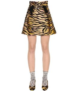 Kenzo   High Waist Tiger Jacquard Skirt