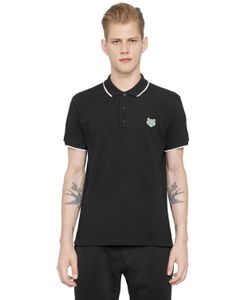 Kenzo | Tiger Embroidered Cotton Piqué Polo