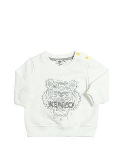 Kenzo Kids | Lurex Embroidered Cotton Sweatshirt