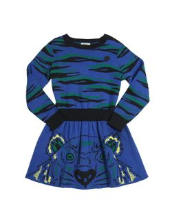 Kenzo Kids | Cotton Wool Jacquard Sweater Dress