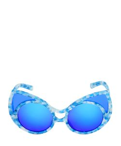 KHALEDA RAJAB + FAHAD AL MARZOUQ | Big Cat Eye Printed Acetate Sunglasses