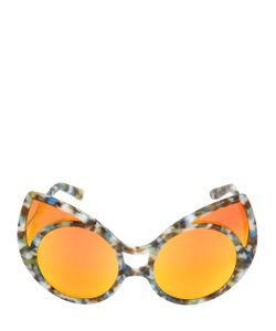 KHALEDA RAJAB + FAHAD AL MARZOUQ | Big Cat-Eye Acetate Sunglasses