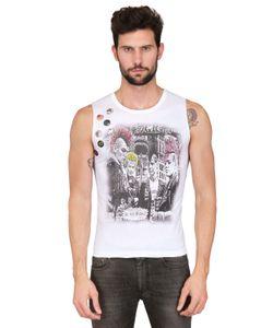 KIN AND GIN | 7 Pins Sleeveless Printed Jersey T-Shirt