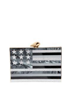 Kotur | Merrick American Flag Perspex Clutch