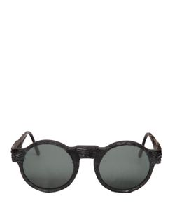 KUBORAUM BERLIN | Engraved Round Frame Sunglasses