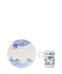L'ABITARE | Flying Fishes Espresso Cup Set