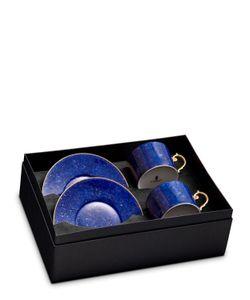 L'OBJET   Sous La Lune Set Of 2 Tea Cups Saucers