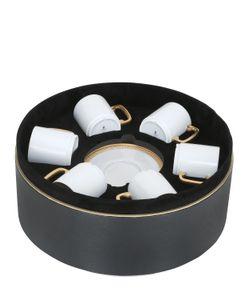 L'OBJET   Soie Tressée Set Of 6 Cup Saucers