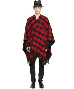 LA MÉRICAINE | Checked Wool Blend Cape
