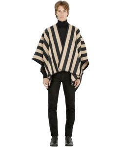 LA MÉRICAINE | Striped Felted Wool Blend Cape