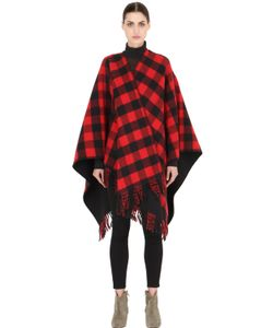 LA MÉRICAINE | Lumberjack Checked Wool Blend Cape
