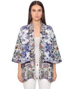 BLACK CORAL | Printed Crepe Kimono