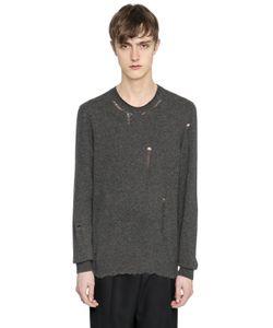 Lanvin | Destroyed Crewneck Wool Blend Sweater