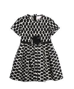 LANVIN PETITE | Polka Do Printed Milano Knit Party Dress