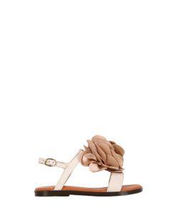 LANVIN PETITE | Leather Silk Sandals