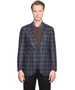 LARUSMIANI | Checked Camel Wool Coat