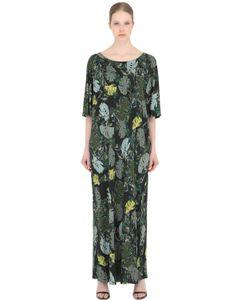 LARUSMIANI | Leaves Printed Viscose Jersey Dress