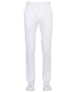 LARUSMIANI   18.5cm Cotton Silk Blend Satin Pants