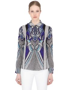 LARUSMIANI   Floral Printed Silk Shirt With Bees