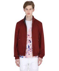 LARUSMIANI   Reversible Silk Satin Bomber Jacket