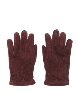 LARUSMIANI | Peccary Gloves W/ Cashmere Lining