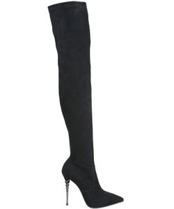 Le Silla | 110mm Stretch Suede Over The Knee Boots