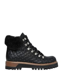 Le Silla | 20mm Swarovski Quilted Leather Boots
