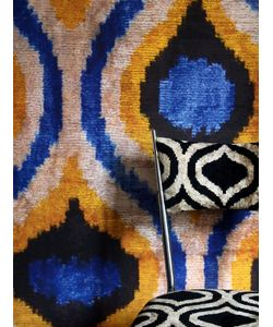 LES OTTOMANS | Ikat Printed Vinyl Wallpaper