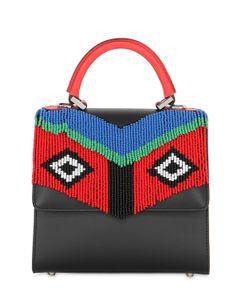 Les petits joueurs   Mini Alex Fringed Leather Top Handle Bag