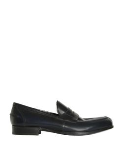 Lidfort | Brushed Leather Penny Loafers