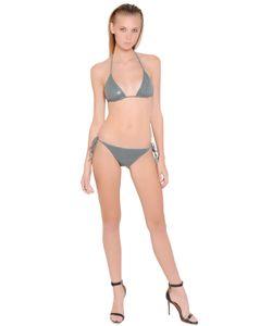 LILIANA CONTI MAGARÌA | Croc Effect Coated Microfiber Bikini