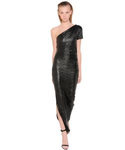 LILIANA CONTI MAGARÌA | Croc Effect Viscose Jersey Dress