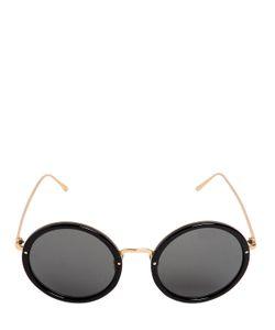 Linda Farrow | Round Acetate Titanium Sunglasses