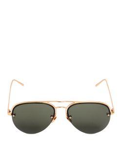 Linda Farrow | Acetate Titanium Aviator Sunglasses