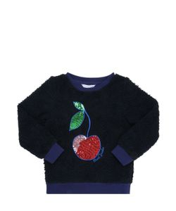 Little Marc Jacobs | Sequined Cherries Faux Shearling Sweater