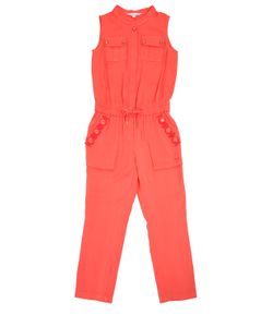Little Marc Jacobs | Sleeveless Viscose Twill Jumpsuit