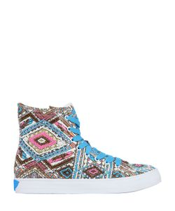 LK | Embellished Canvas High Top Sneakers