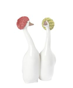 LLADRÒ | Porcelain Geese W/ Decorative Swim Caps