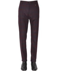 LORDS & FOOLS | 17cm Checked Stretch Flannel Pants