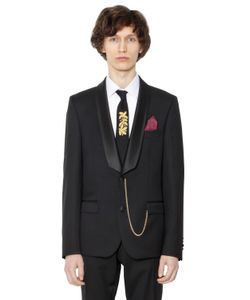 LORDS & FOOLS | Satin Lapin Wool Serge Tuxedo Jacket