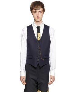 LORDS & FOOLS | Wool Knit Satin Vest