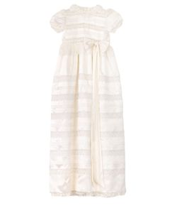 LORETTA CAPONI | Made To Order Silk Christening Gown