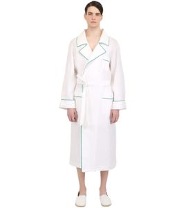 LORETTA CAPONI | Handmade Lion Embroidered Linen Robe