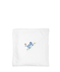 LORETTA CAPONI | Embroidered Cotton Piqué Towel