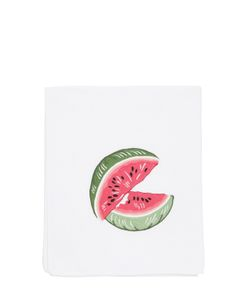 LORETTA CAPONI | Embroidered Watermelon Kitchen Towel