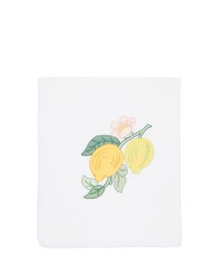 LORETTA CAPONI | Embroidered Lemon Kitchen Towel