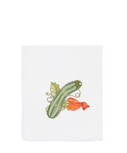 LORETTA CAPONI | Embroidered Zucchini Kitchen Towel