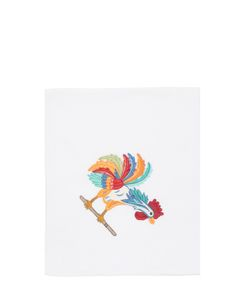 LORETTA CAPONI | Embroidered Rooster Kitchen Towel