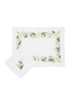 LORETTA CAPONI | Camellia Set Of 2 Placemats 2 Napkins